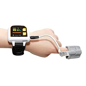 Heal Force Prince-100H Wrist Style Oximeter for Sleep Monitoring / Long-Term Measurement of SpO2, Pulse Rate and Perfusion Index