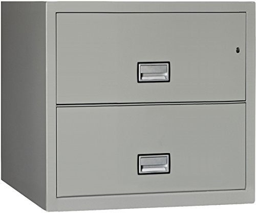 Phoenix Lateral 31 inch 2-Drawer Fireproof File Cabinet with Water Seal, Gray