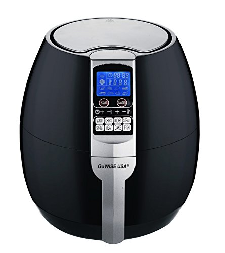 GoWISE USA GW22611 GoWISE USA 8-in-1 Electric Air Fryer with Digital Programmable Cooking Settings 3.7 QT Black, Black