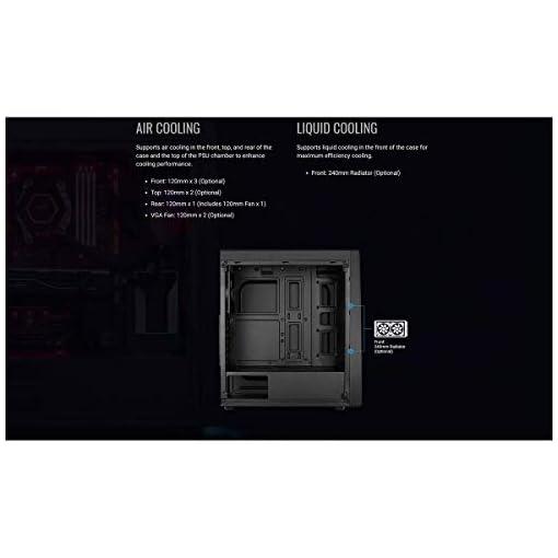 Aerocool BOLT - Caja de PC, ATX, Ventana Total, RGB 13 modos, ventilador 12cm 5