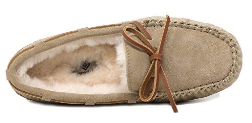 Auzy Moccasins DREAM PAIRS Sand Slippers Winter Women's 02 q6BgWPwfEB