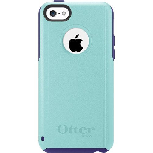 Cab High Shell Cover (Otterbox Commuter Case for iPhone 5c - Retail Packaging - Lily Verizon Aqua)