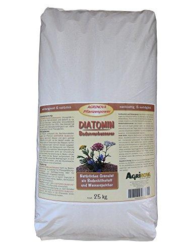 DIATOMIN Bodenverbesserer 25 kg (wasserspeicherndes Granulat auf Kieselgurbasis zur Verbesserung der Wachstumsbedingungen von Pflanzen)