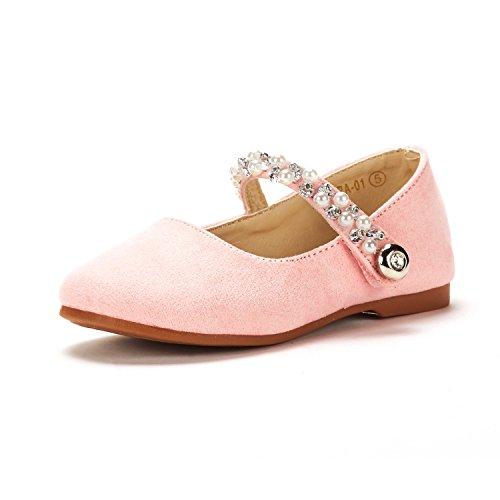 DREAM PAIRS Toddler Aurora_01 Pink Girl's Mary Jane Ballerina Flat Shoes Size 6 M US ()