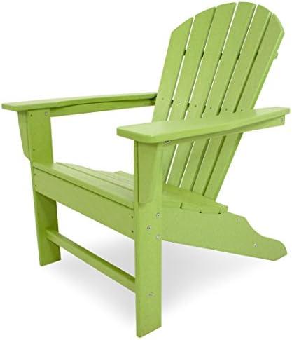 POLYWOOD SBA15LI South Beach Adirondack Chair, Lime