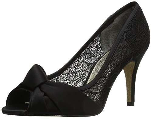 Adrianna Papell Women's Francesca Pump, Black Satin, 5.5 M US by Adrianna Papell