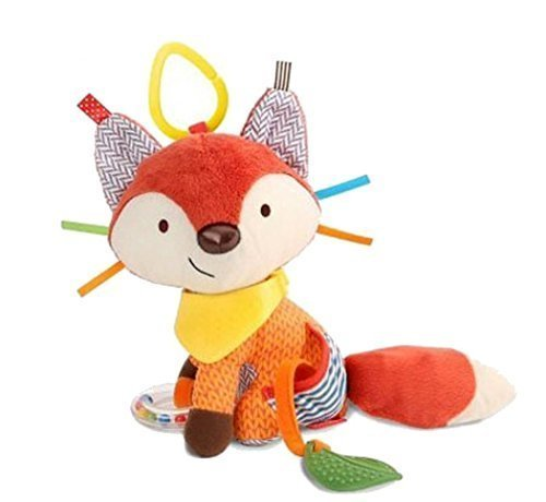 Here Fashion Infant Baby Development Soft Plush Giraffe Animal Handbells Rattles Handle Toys For Crib  - Perfect for High Chair and Interactive Playing