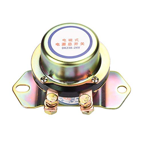 Ejoyous 24V Car Auto Vehicle MotorBoat Battery Electromagnetic Disconnect Switch, DC 24V Electromechanical Solenoid Power Switch + One Button Dash Control Master Kill System Turn on/off