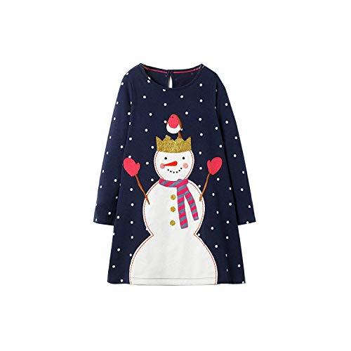 Dresses Girls Clothing Cotton Long Sleeve Baby Girls Dress Tunic Jersey Princess Dress Costume,90,7