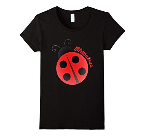 Womens Miracle Ladybug T-shirt Medium Black