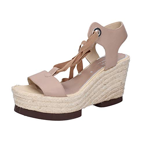 Pelle Palomitas Barcelo By Paloma Donna Zeppa Beige Sandali cTYqafWT