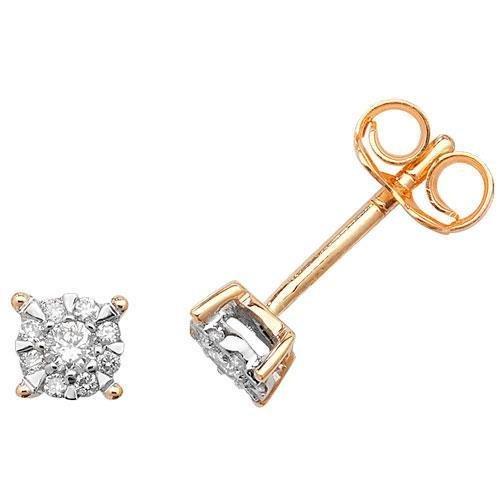 Boucles d'oreilles diamant brillant Gamme 9ct W I1-20,16ct