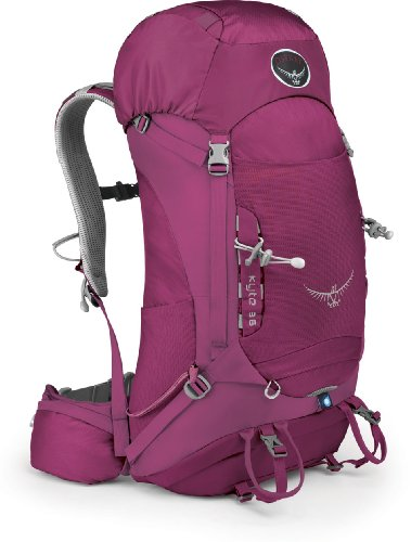 Osprey Women's Kyte 36 Backpack, Rose Red, Small/Medium, Outdoor Stuffs