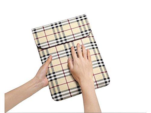 Yunqir Multi-functional 13.3 Inch Unisex PU Leather Tablet Laptop Bag Handbag Computer Inner Bag Envelope Bag