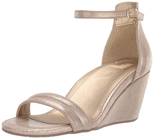 Kenneth Cole REACTION Women's 7 Cake Icing Wedge Sandal Soft Gold, 10 M US ()