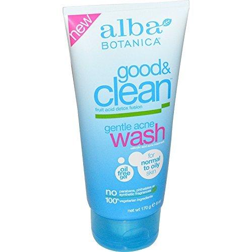 Alba Botanica, Good & Clean, Gentle Acne Wash, 6 oz (170 g) - 2pc