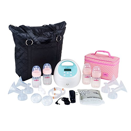 Spectra Baby USA – S1 Hospital Grade Double/Single Electric Breast Pump – With Black Tote and Pink Cooler