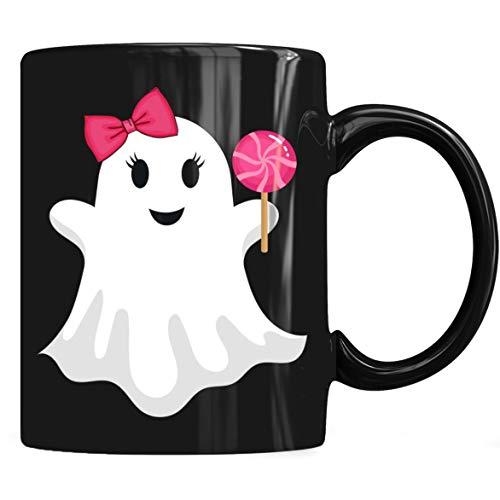 Cute Halloween Ghost Girl Lollipop Candy Mug For Girls, Halloween Girls Mug Coffee Mug 11oz & 15oz Gift Tea Cups ()