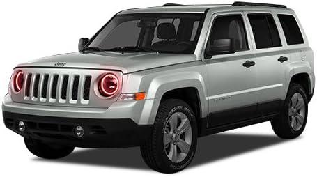 [ANLQ_8698]  Amazon.com: FLASHTECH for Jeep Patriot 07-16 Red Single Color LED Halo Ring  Headlight Kit: Automotive | 2014 Jeep Patriot Headlight Wiring |  | Amazon.com