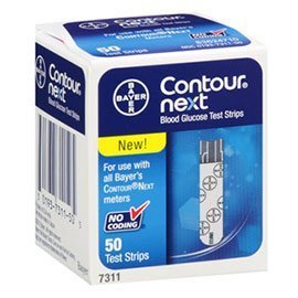 Bayer Contour Next Blood Glucose Test Strips 100 2x50 Pack and 100 Lancets (100)