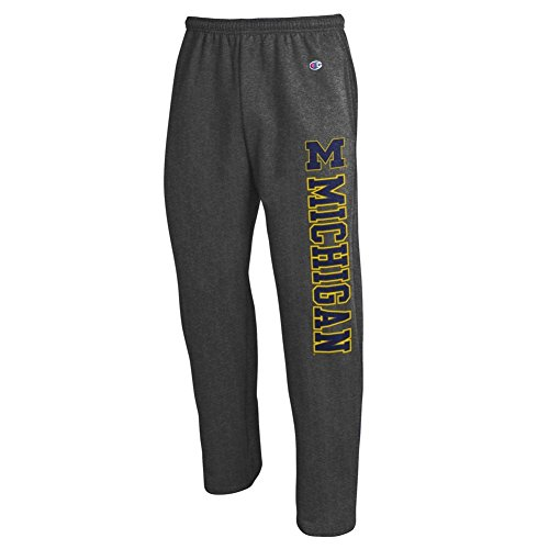 Michigan Wolverines Sweatpants Pockets Charcoal - L (Michigan Wolverine Pants)