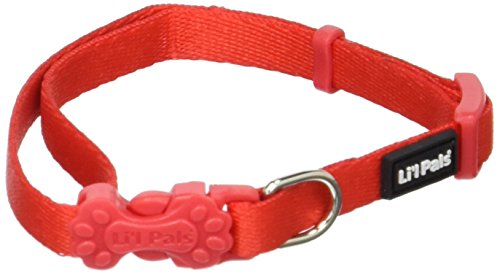 Coastal Pet Products DCP222RED 5/16-Inch Nylon Pals Dog Collar, X-Small, Red