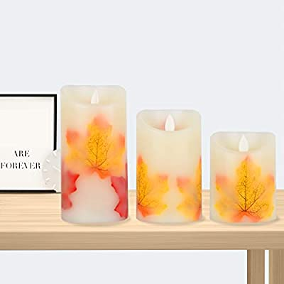 Flameless Candles, Flickering Led Candles Set of 3 (D 3