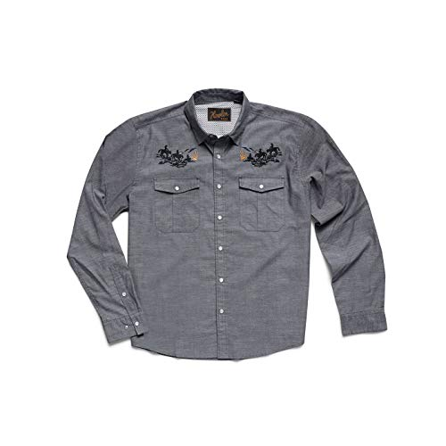 Howler Brothers Gaucho Snapshirt - Blue Oxford : Howler Posse - ()