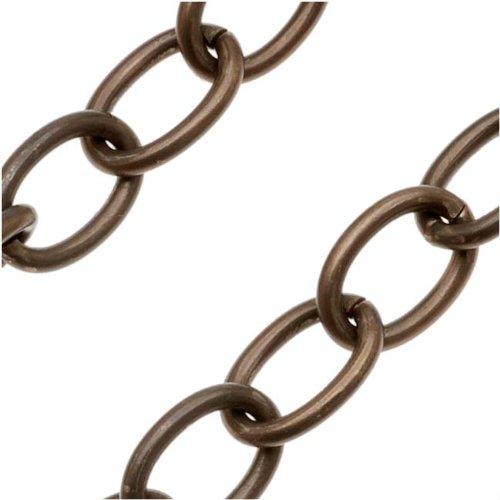 Vintaj Natural Brass Chain 8mm X 5.5mm Oval Links - Bulk By The Foot