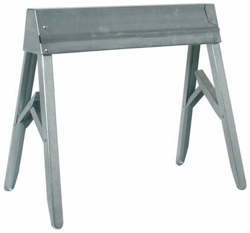 2 Pack Fulton TS-11 Galvanized Folding Steel Sawhorse - 1 per Package