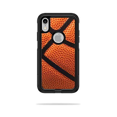 MightySkins Skin for OtterBox Commuter iPhone XR Case - Basketball   Protective, Durable, and Unique Vinyl Decal wrap Cover   Easy to Apply, Remove, and Change Styles   Made in The USA