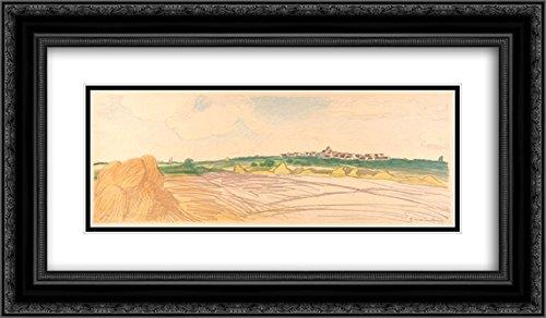 Theophile Steinlen 2X Matted 24x14 Black Ornate Framed Art Print 'Color Litho Landscape'