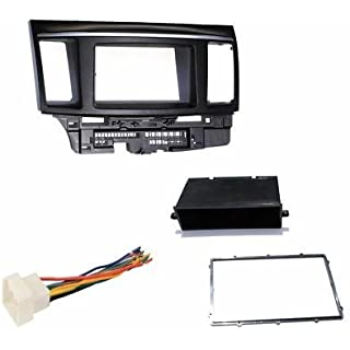 Sale Off Mitsubishi Lancer / Lancer Evolution (2007 2008 2009 2010 2011 2012) Aftermarket Radio Stereo Double Din Dash Installation Install Kit + Wire Harness