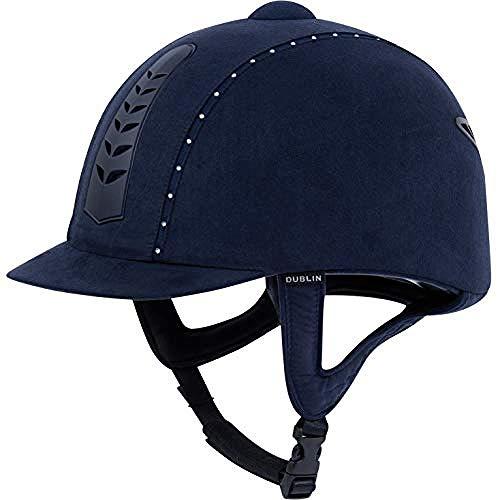 Dublin Unisex Pro Diamante Riding Hat (21.3in) (Navy) ()