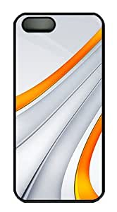 meilz aiai3D Orange And Silver Stripe Polycarbonate Custom iPhone 5S/5 Case Cover - Blackmeilz aiai