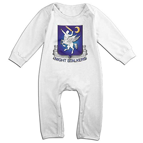 KOKOBABY 160th Special Operations Aviation Regiment Baby Organic Pajamas Organic Bodysuits White