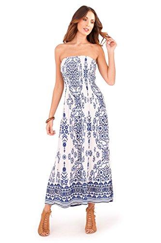 Dannii Matthews - Vestido - plisado - Paisley - para mujer Blue/White Paisley
