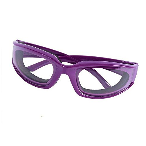 Onion Cutting Goggle Glasses Eye Protect Cooking BBQ Kitchen Gadget Goggle Purple color