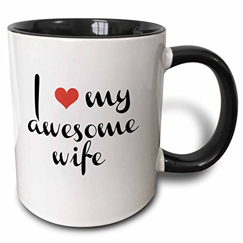 3dRose mug 202781 4 Awesome Black White