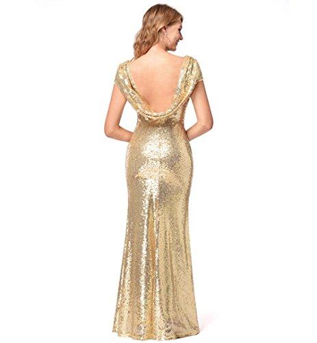 MEILI Brautjungfernkleid Rock Pailletten Damen Langes Kleid Hochwertiger Kleid 8xvAqFr8
