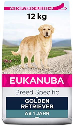 Eukanuba Breed Specific Golden Retriever Trockenfutter – optimal auf die Rasse abgestimmtes Premium Hundefutter mit Huhn…