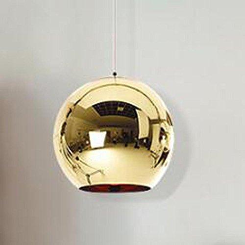 Pendant Glass Childrens Light (WY Space Plating Ball Pendant Light LED Creative Modern Design Glass Lighting Chandelier for Bar Living Room, Gold, 20cm)