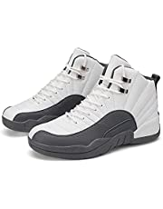 SYSMYXGS Men's Basketball Sport Shoes Fashion Sneakers Breathable Anti Slip High Upper Basketball Shoes Outdoor Indoor Anti Slip