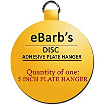 """eBarb's """"The Original"""" English Plate Hanger Disc--a quantity of ONE 5 Inch Hanger"""