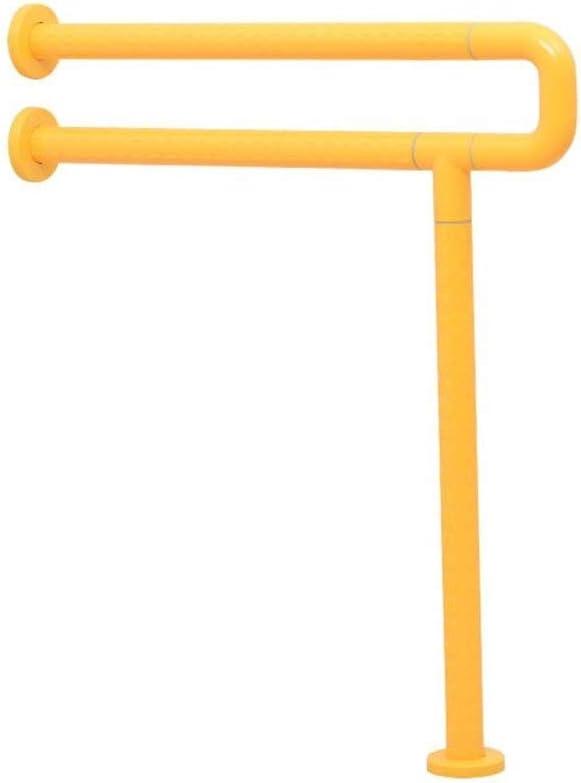 Bathroom safety rails Bathroom handrails, bathroom Non-slip Safety Stainless steel armrest 700 600mm (Color : Yellow)