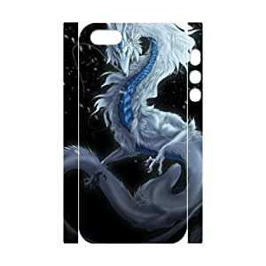 Customized Phone Case with Hard Shell Protection for Iphone 5,5S 3D case with The mighty dragon lxa#864084