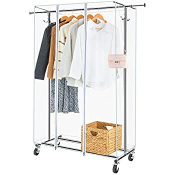 Amazon Com Greenstell Garment Rack With Pvc Cover On