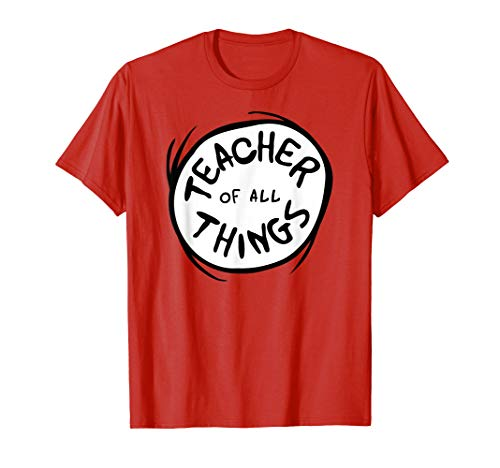 Dr. Seuss Teacher of all Things Emblem RED T-shirt