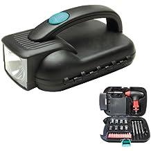 25 Pcs Portable Flashlight Tool Box Set - Portable Auto, Home, Emergency Tool Kit with Flashlight