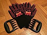 Ziv'sWorkout Barbecue Gloves & Pulled Pork Claws Set   BBQ, Grilling, Cooking, Fireplace, Oven Mitts.Bonus meat claws included.
